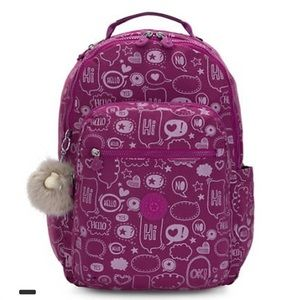 "Brand new Kipling Seoul Large Printed Backpack 15"""